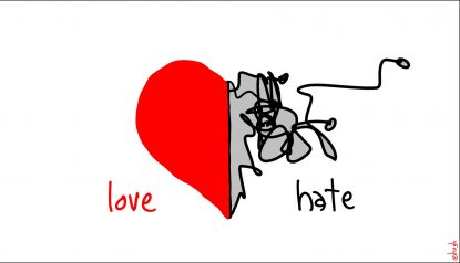 EVEN HATRED HAS LOVE